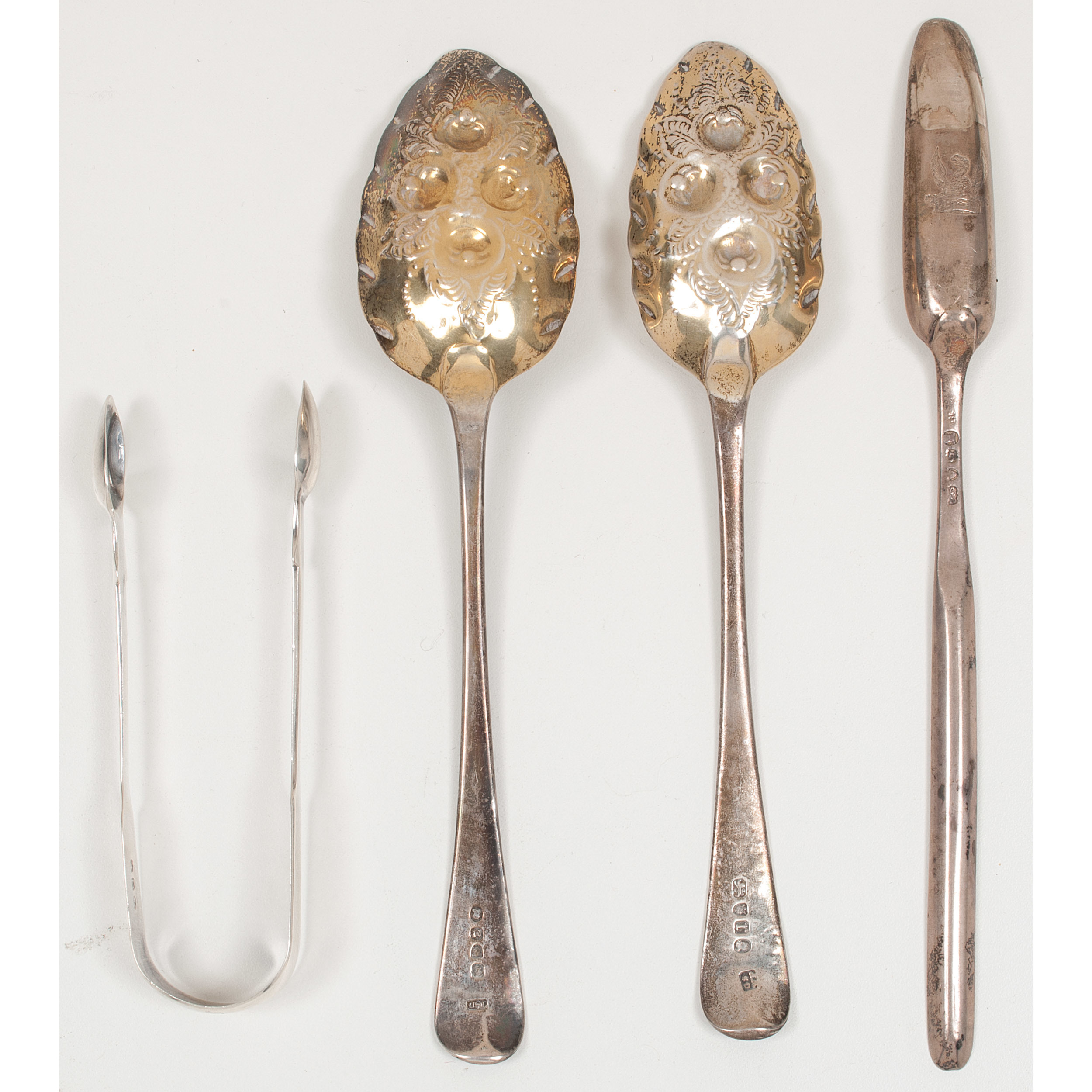 English Sterling Berry Spoons and Other Utensils | Cowan's Auction