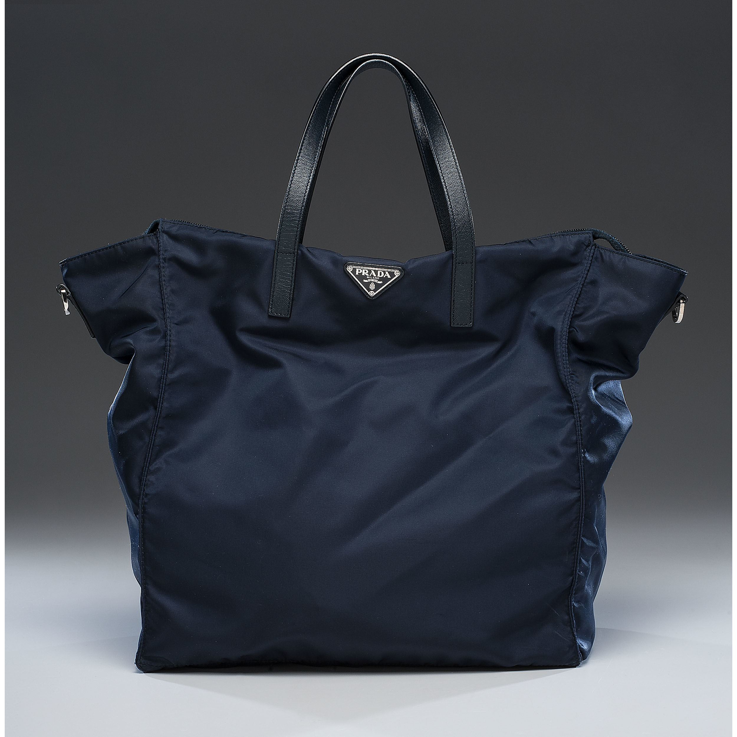 9e5f16304922 ... australia prada navy nylon zip tote bag with strap b105b 60820