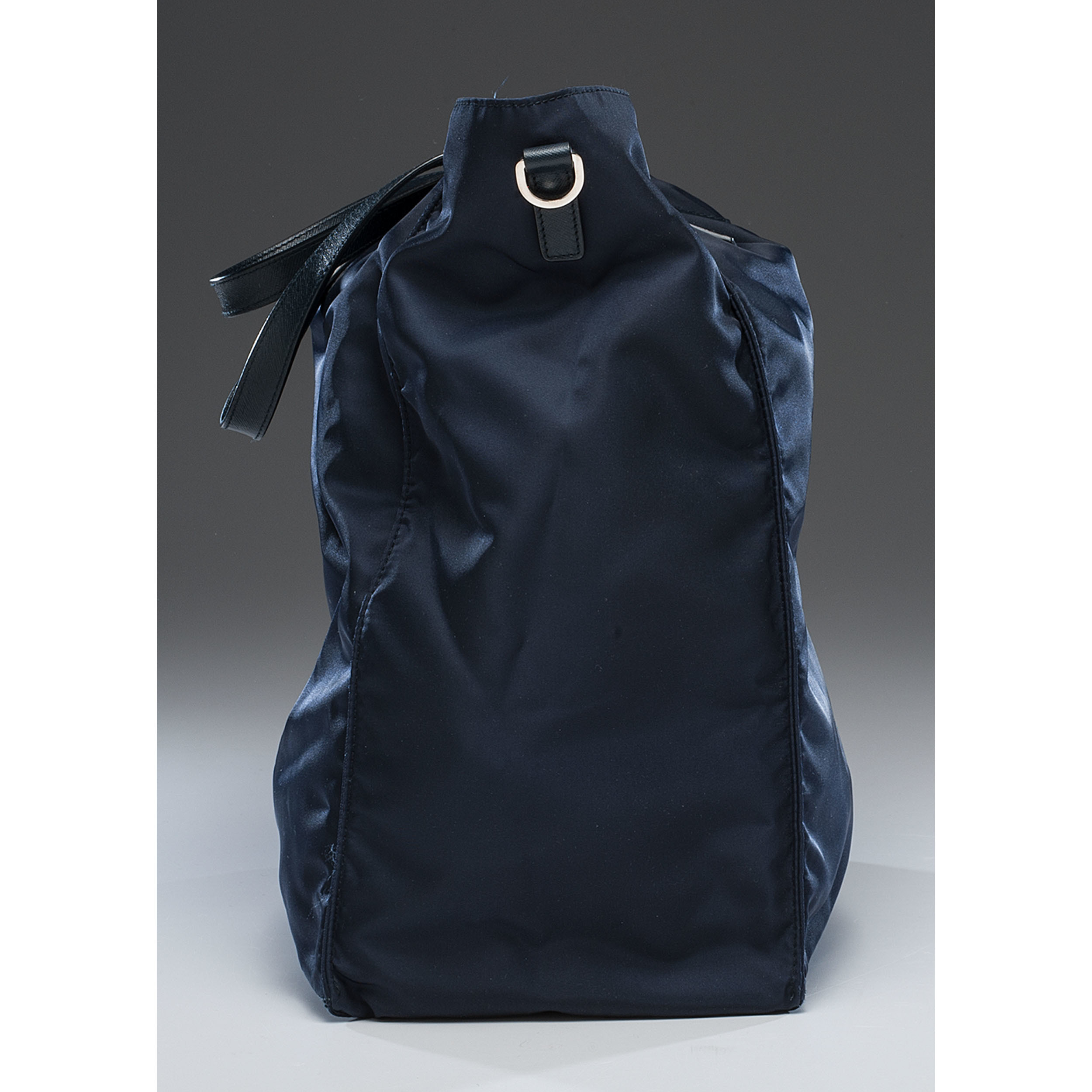 ... australia prada navy nylon zip tote bag with strap 2b5ef fe2d5 ... 27786c9ae118d