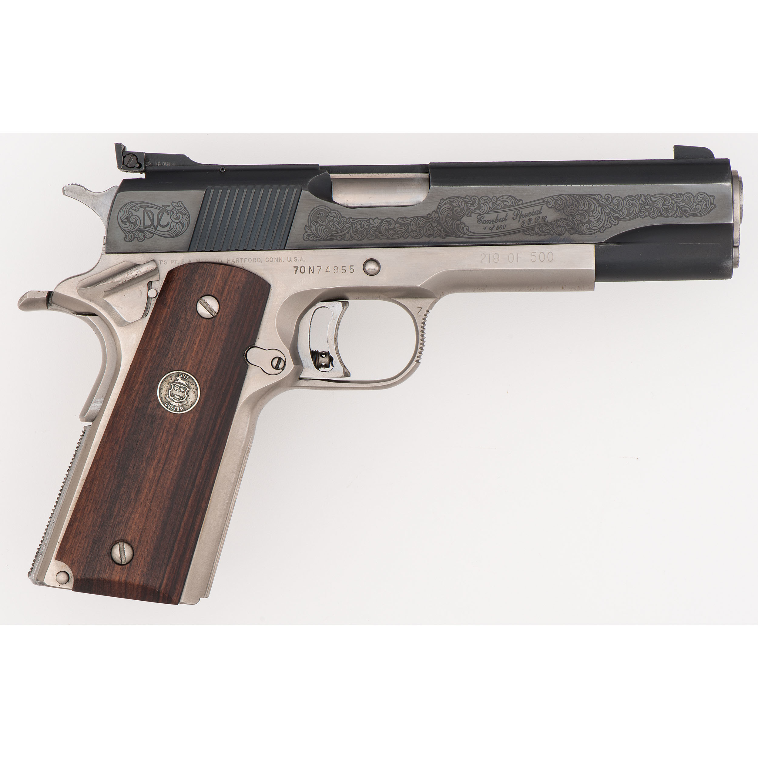 Colt 1911 Combat Special Gold Cup 1 of 500 | Cowan\'s Auction House ...