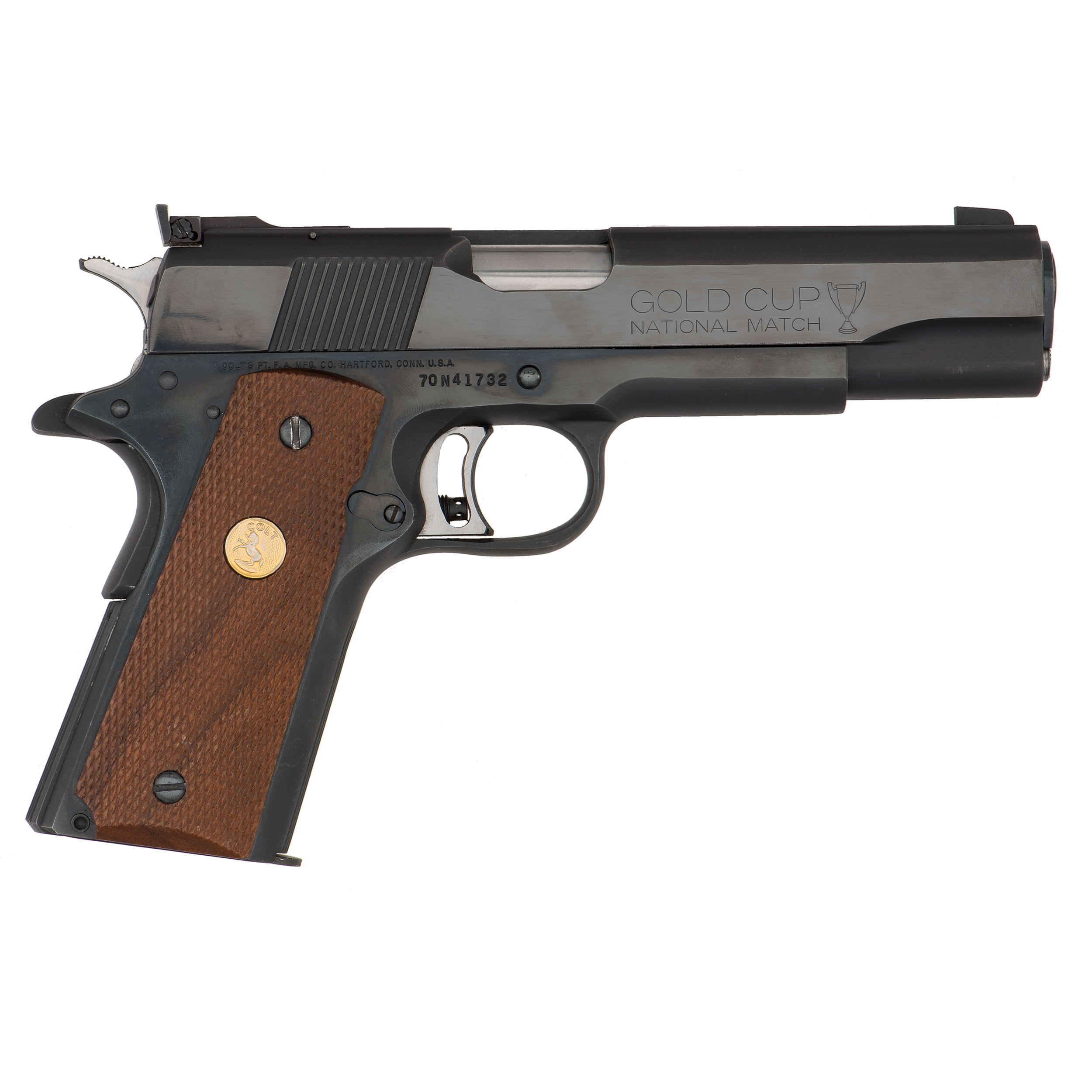 Colt Mark Iv Series 70 Gold Cup National Match Pistol Cowan S Auction House The Midwest S Most Trusted Auction House Antiques Fine Art Art Appraisals
