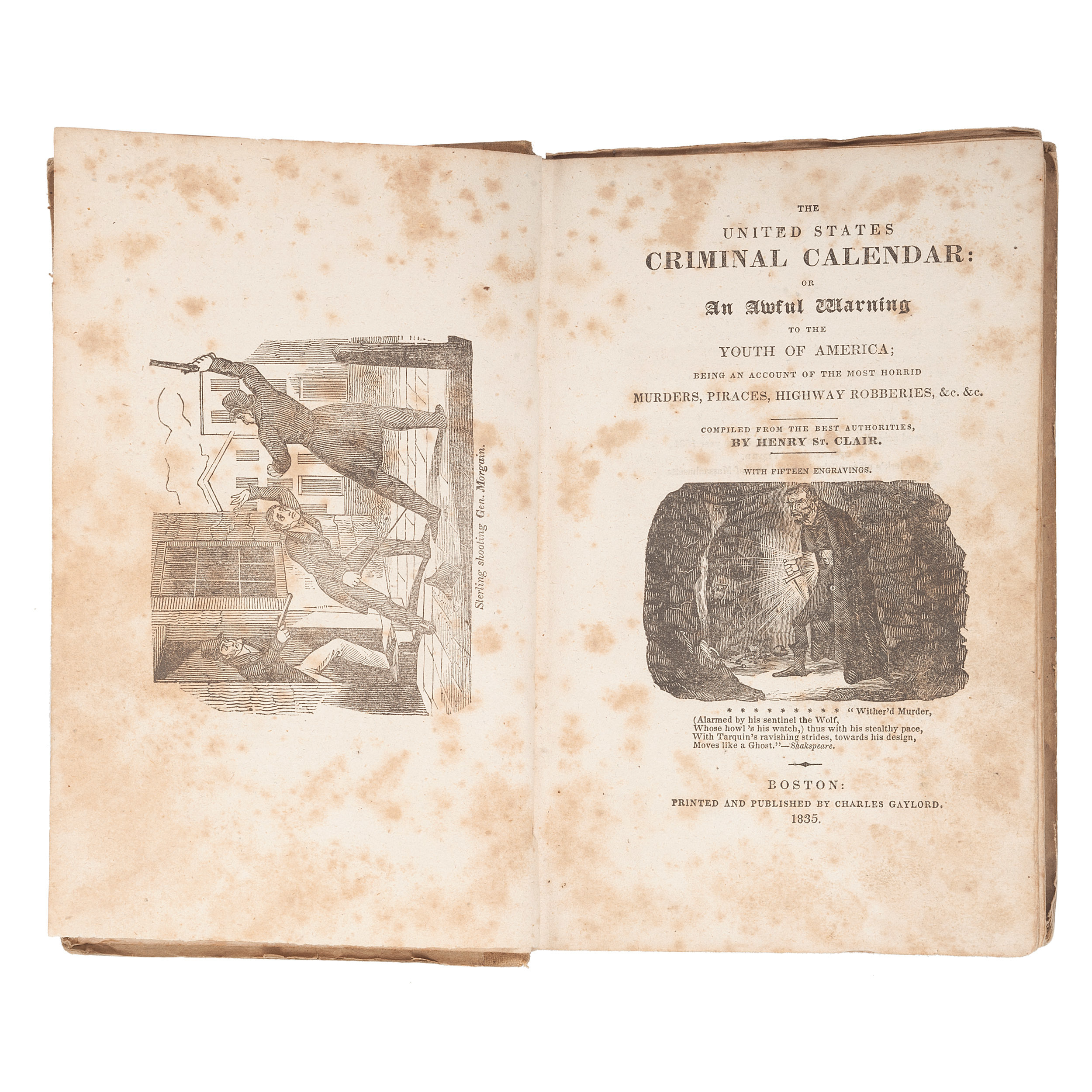 [Crime and Punishment] The United States Criminal Calendar for 1833,  Connecticut Blue Laws