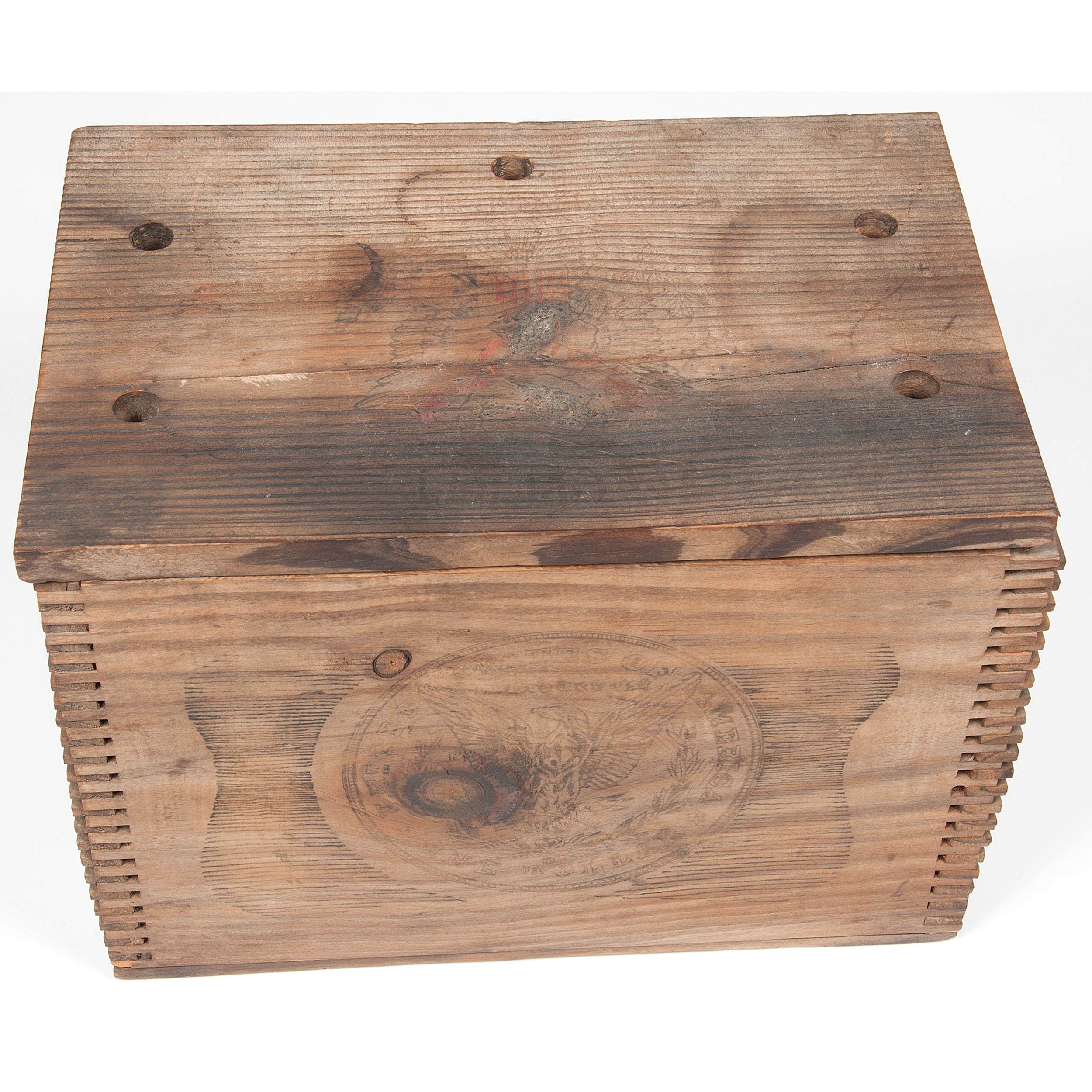 Us Mint At Carson City Nevada Wooden Box Ca Last Quarter 19th