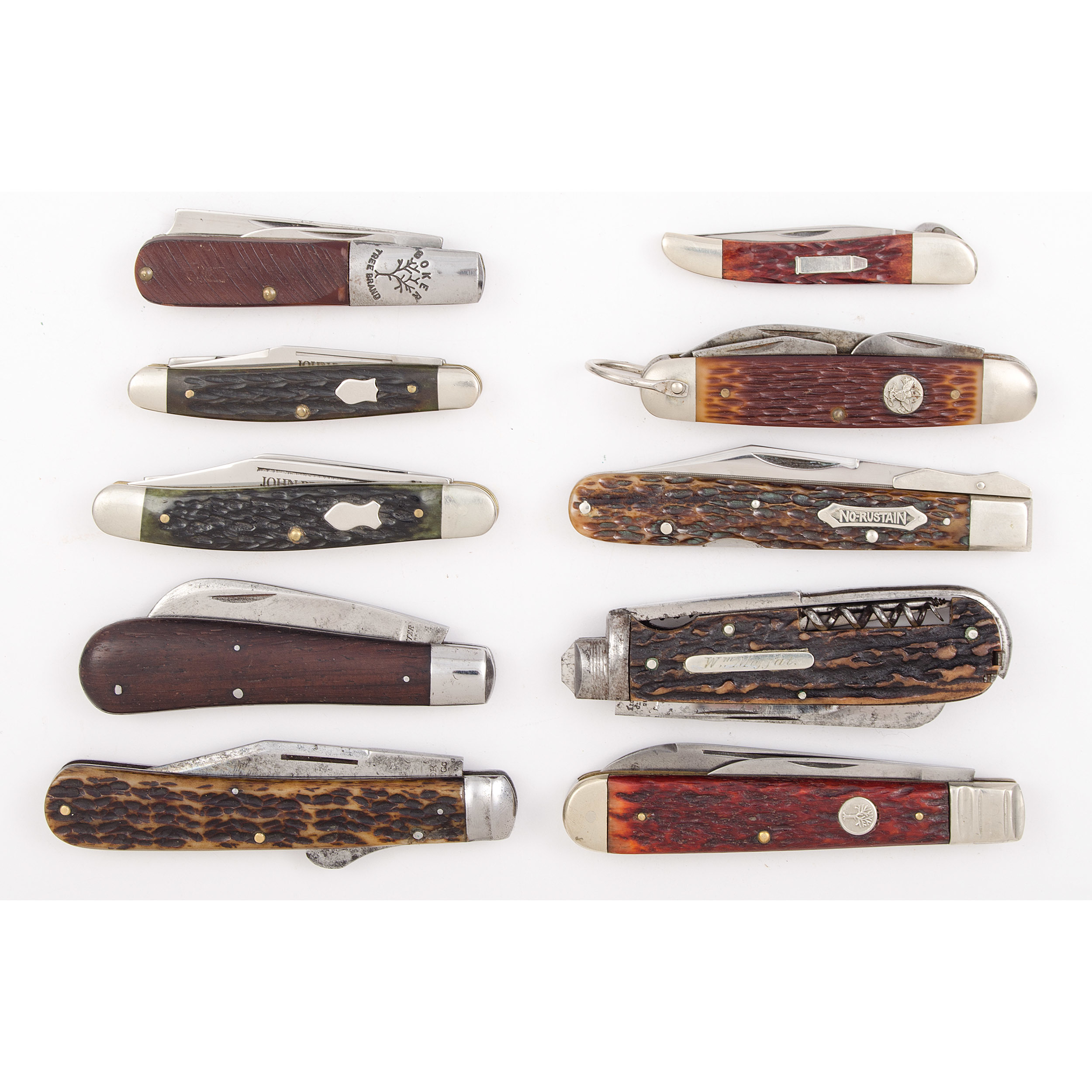 10 Vintage Pocket Knives from the Estate of Art Gerber, Tell