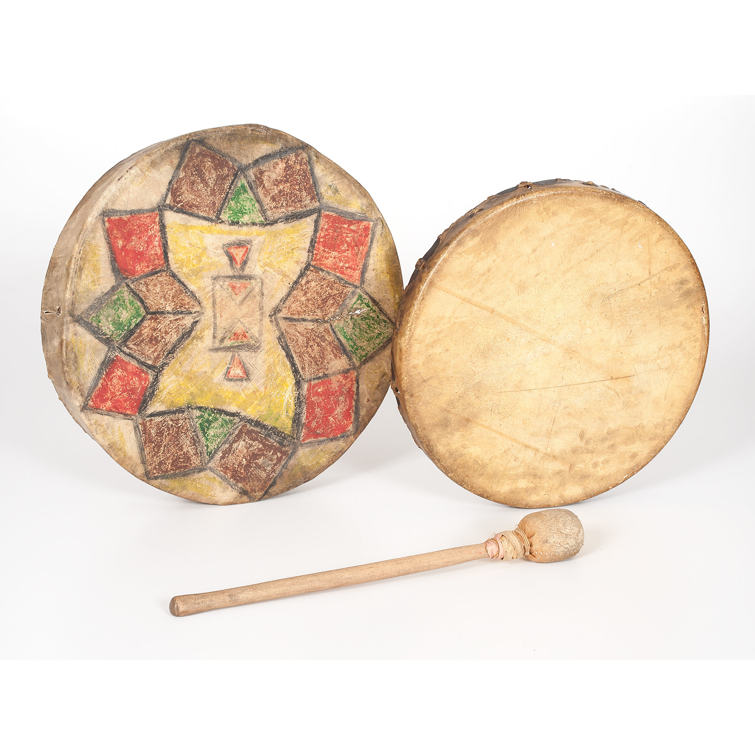 Plains Painted Hide Drums | Cowan's Auction House: The