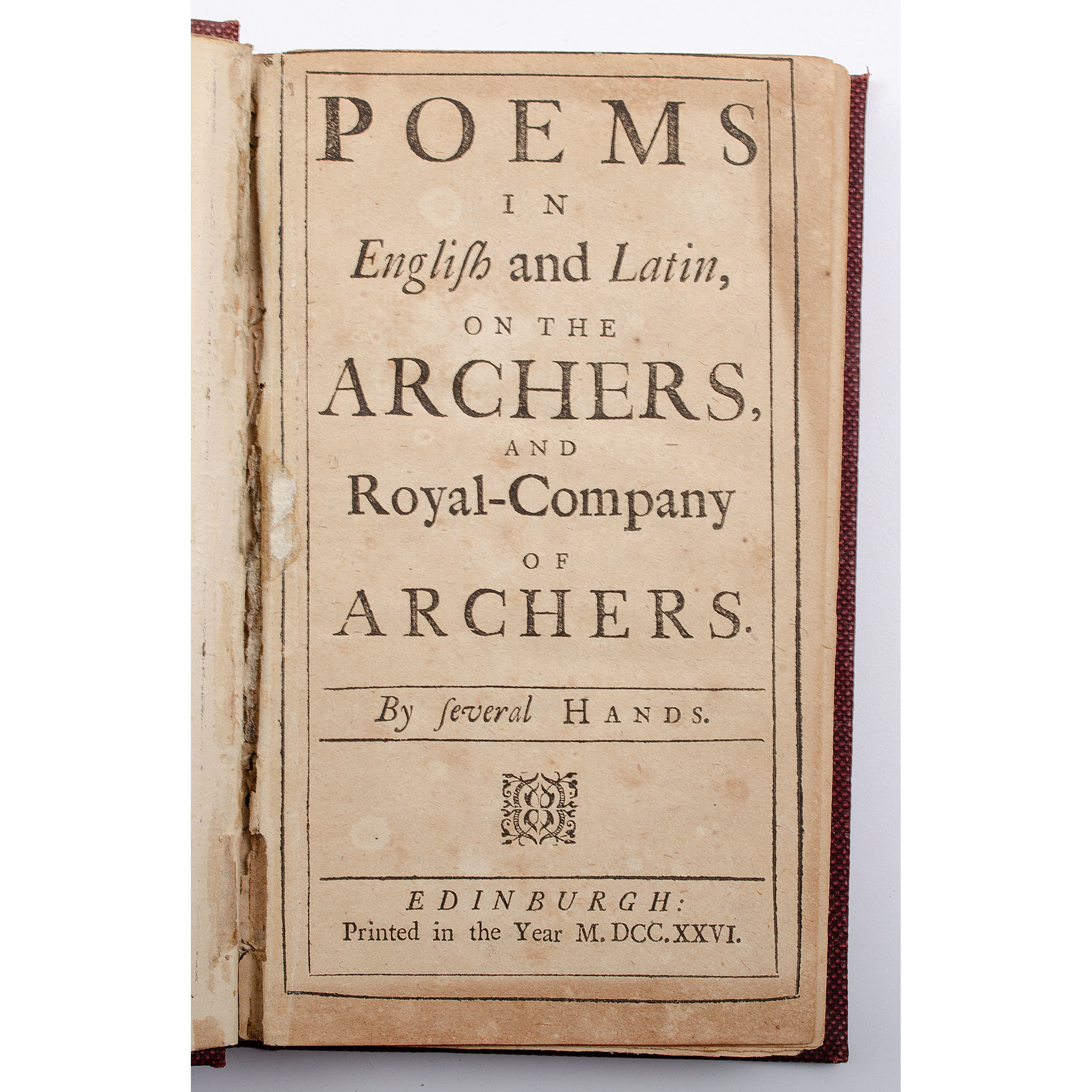 Sporting - Archery - 18th Century Poetry] Poems in English