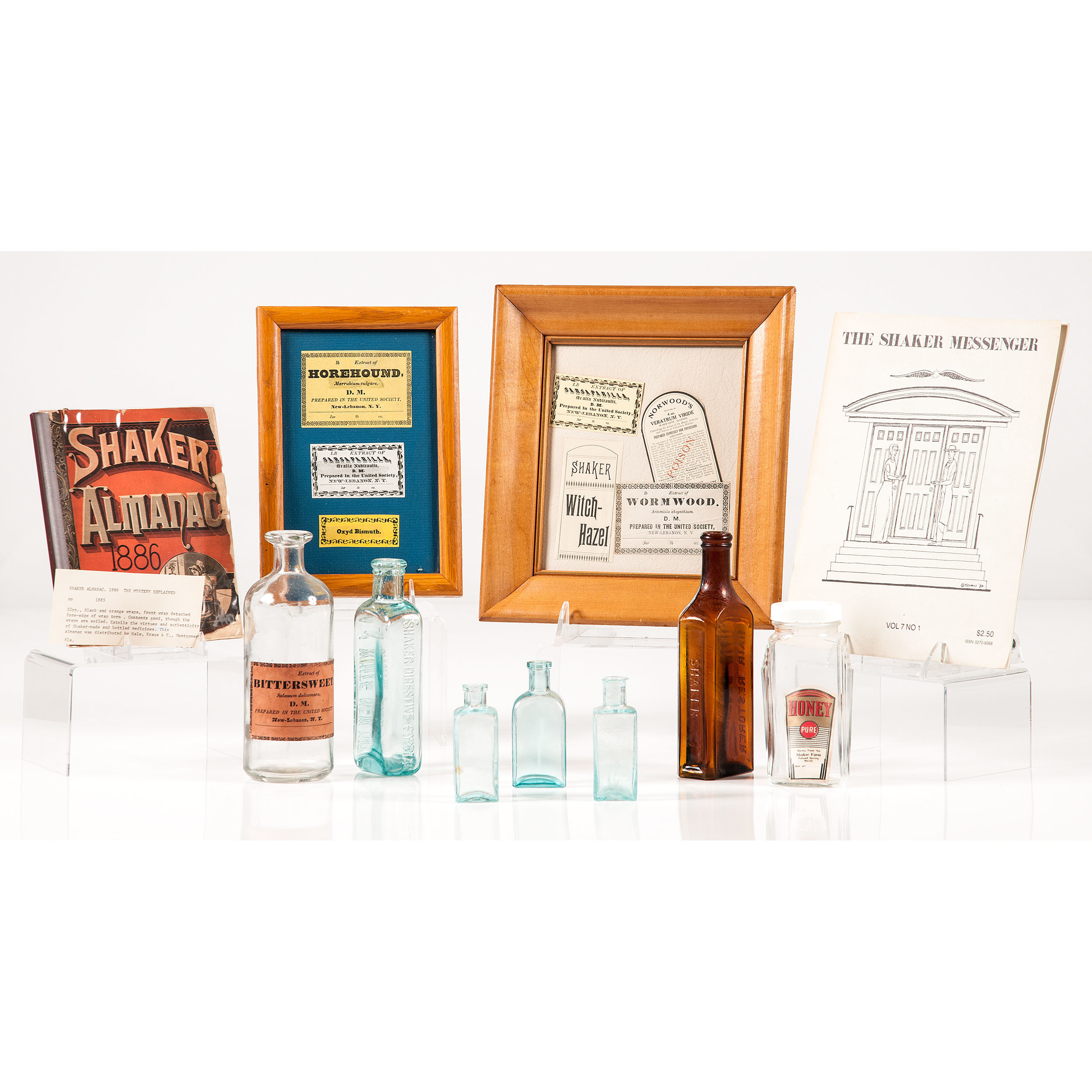 Shaker Glass Bottles And Labels Plus Cowan S Auction House The Midwest S Most Trusted Auction House Antiques Fine Art Art Appraisals