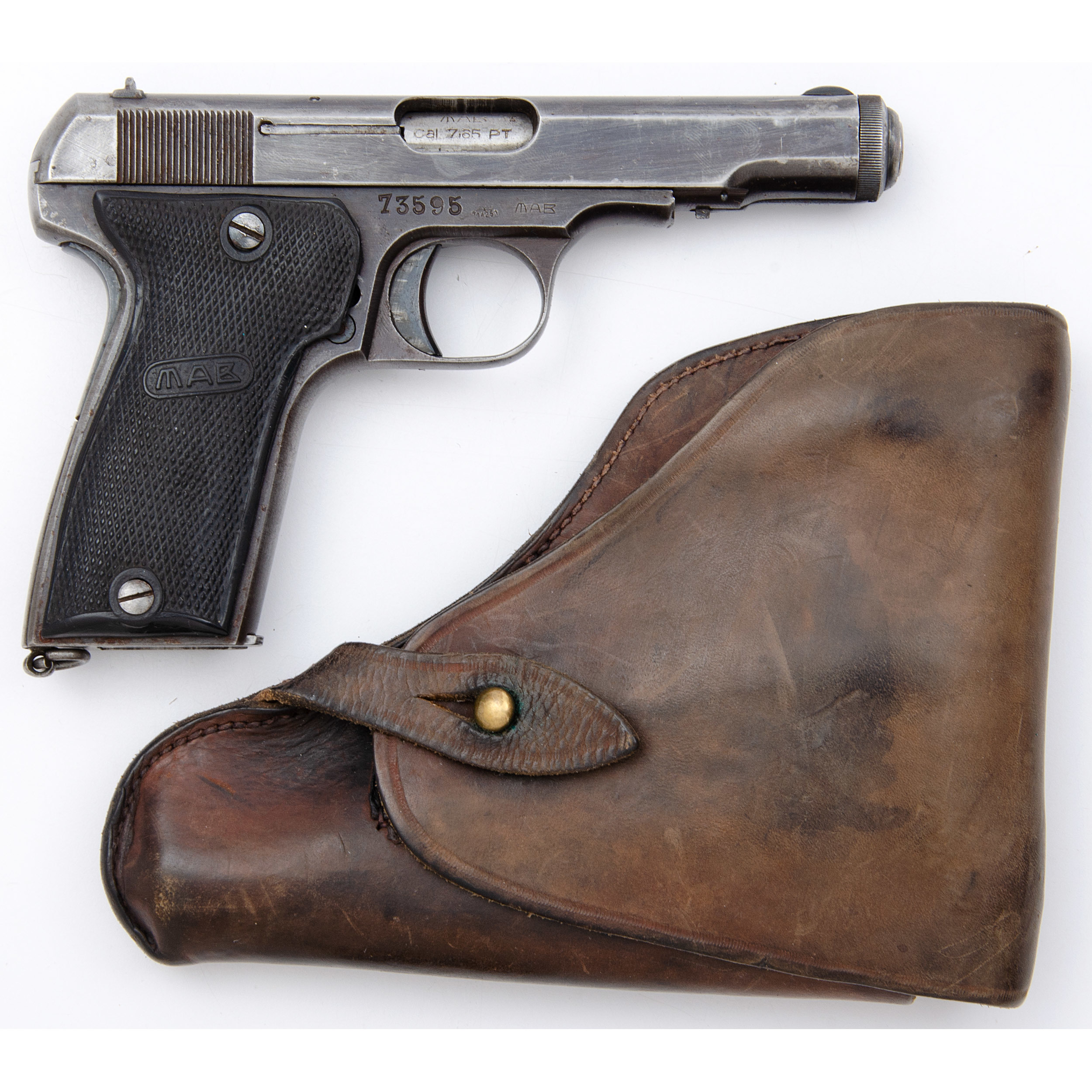 Nazi Marked French MAB Model D Pistol with Holster | Cowan's