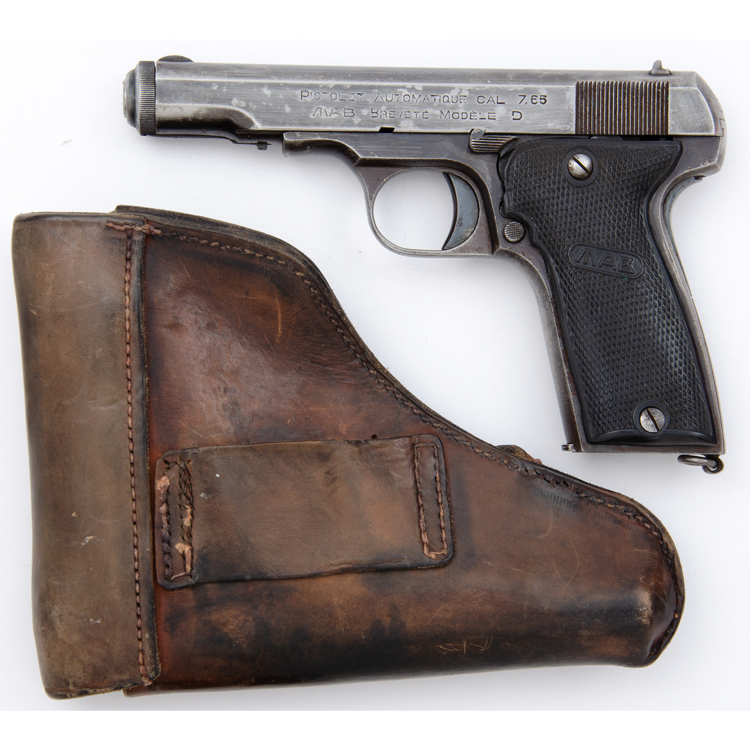 Nazi Marked French Mab Model D Pistol With Holster Cowan S Auction House The Midwest S Most Trusted Auction House Antiques Fine Art Art Appraisals
