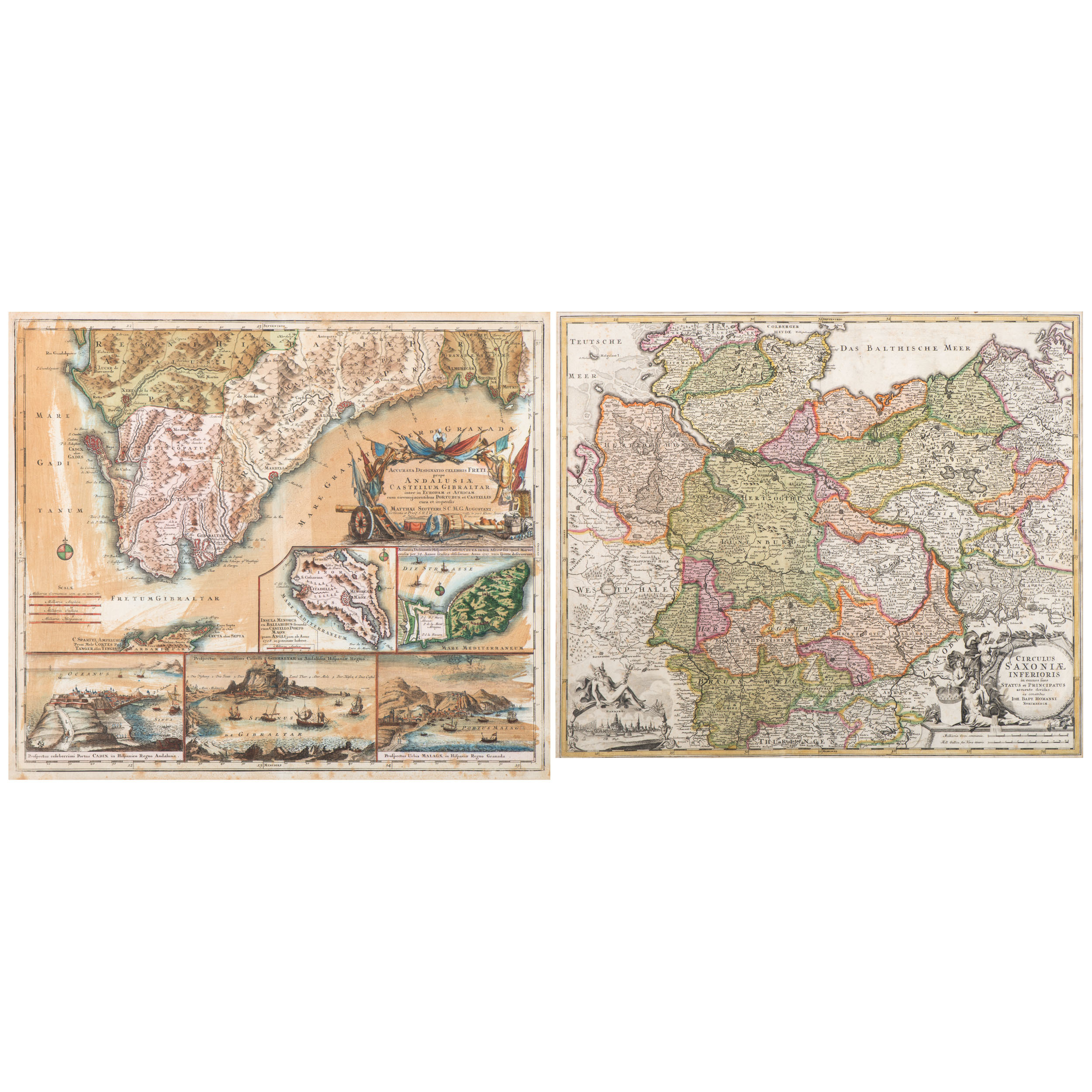 Map Of Germany To Spain.Cartography Europe 18th Century Maps By Matthias Seutter 1678