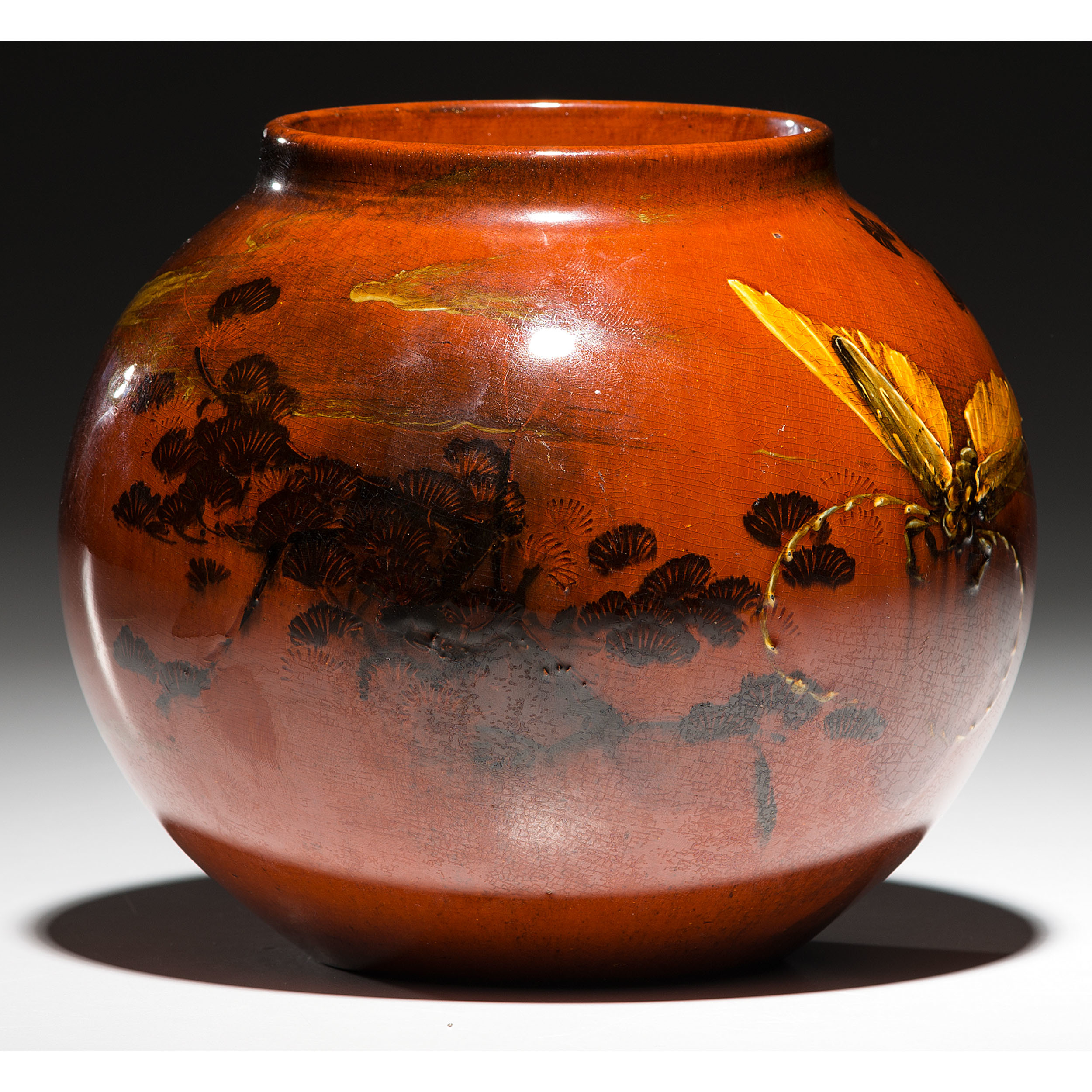 Rookwood Pottery Red Clay Vase, Matthew Daly | Cowans