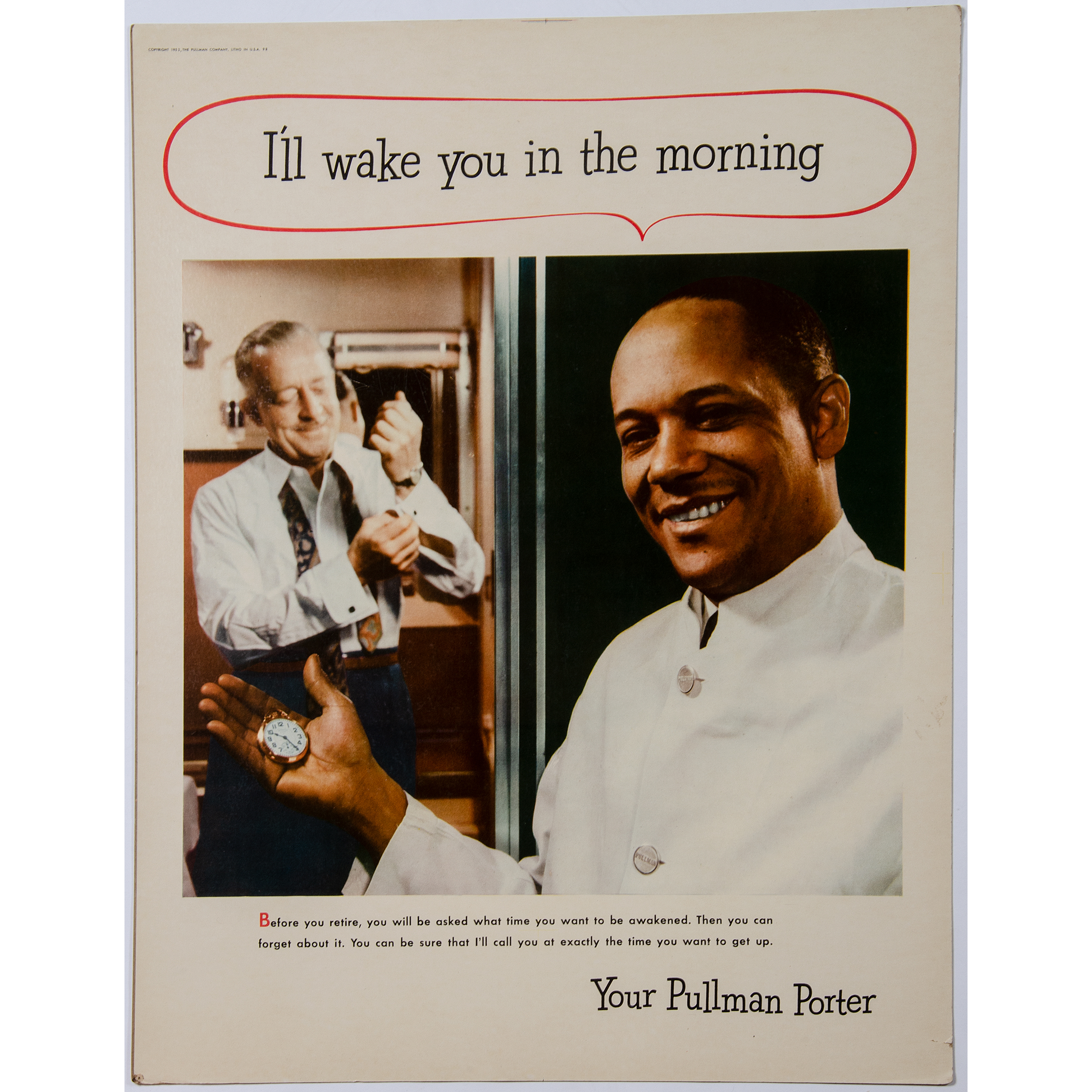 Pullman Porter Advertising Posters, 1952, Plus | Cowan's ...