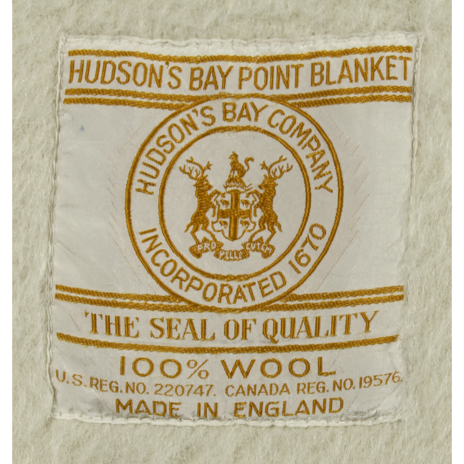 Hudson Bay Four Point Trade Blanket From An Important