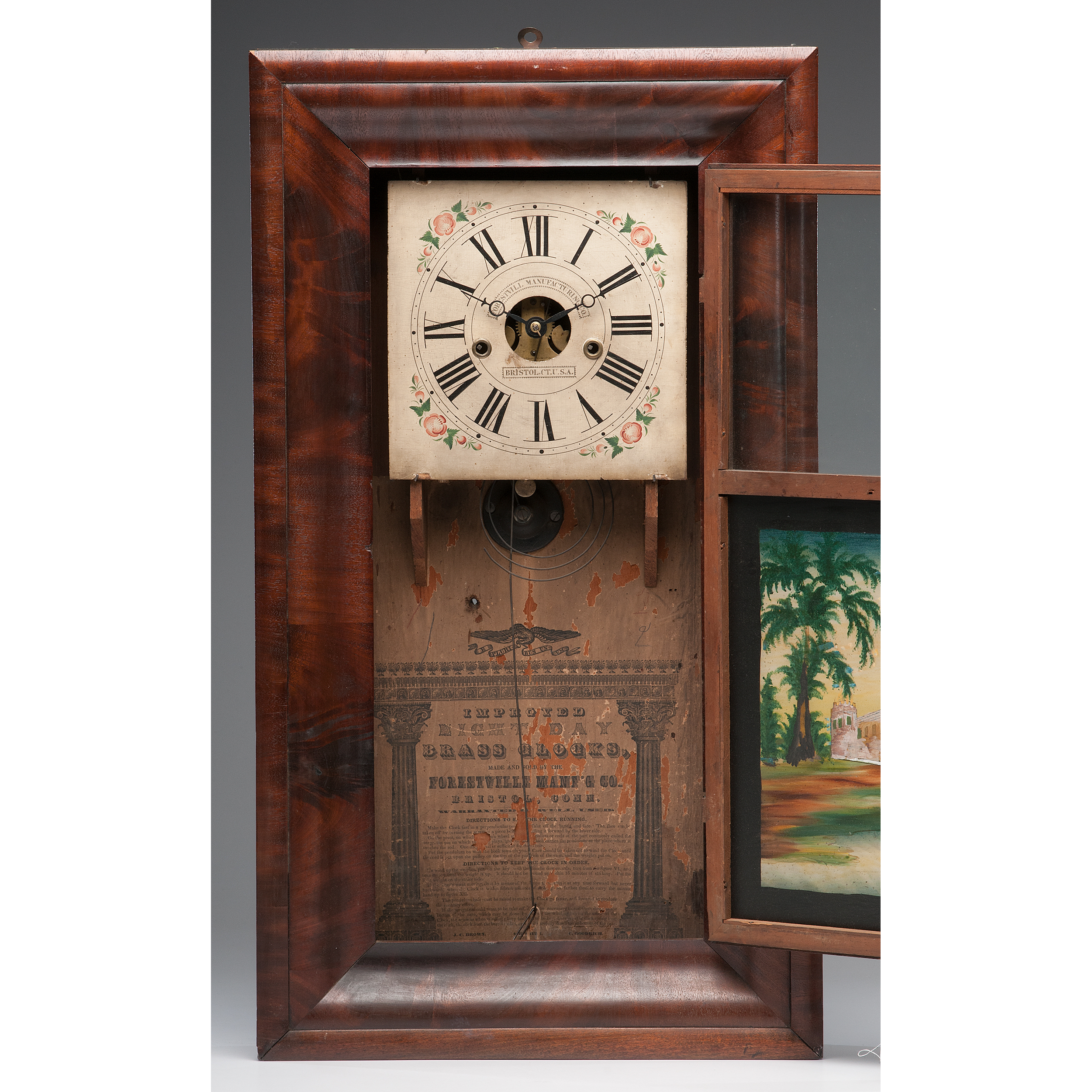 Forestville Manufacturing Co Ogee Shelf Clock Cowan S