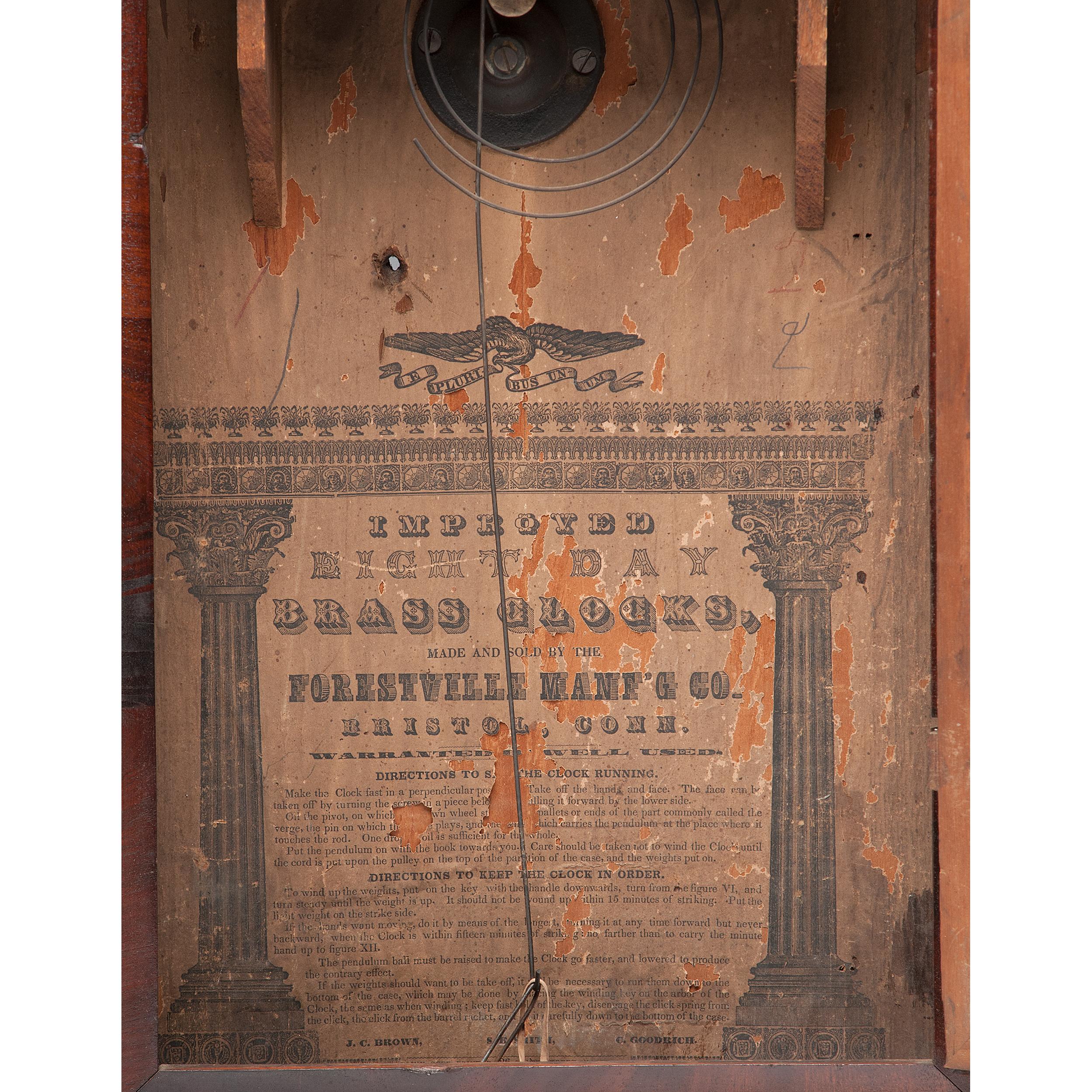 Forestville Manufacturing Co Ogee Shelf Clock Cowan S