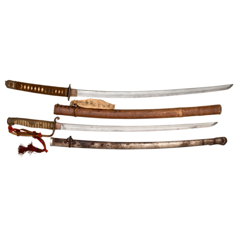 Two Japanese Swords: Russo-Japanese Sword & WWII Army