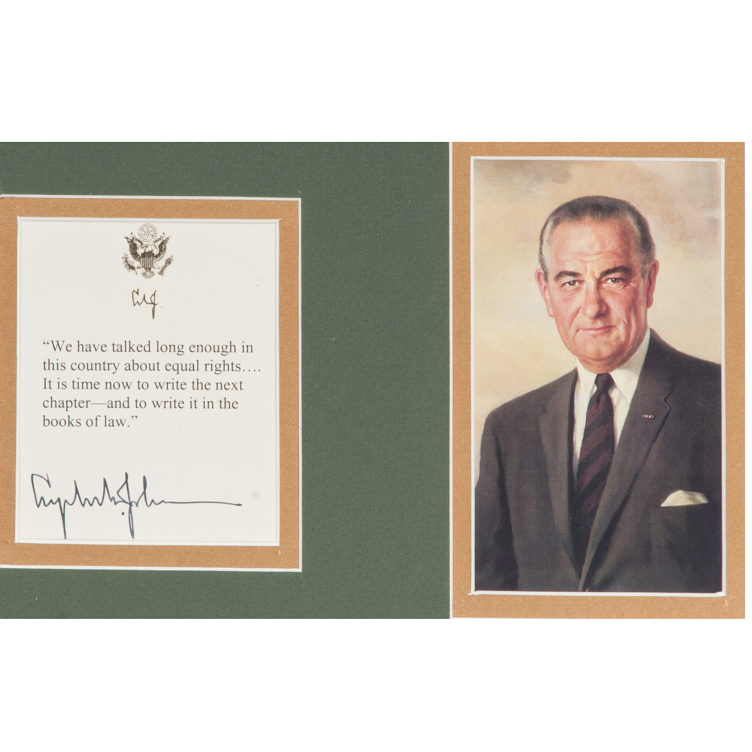 lyndon b johnson and equal rights