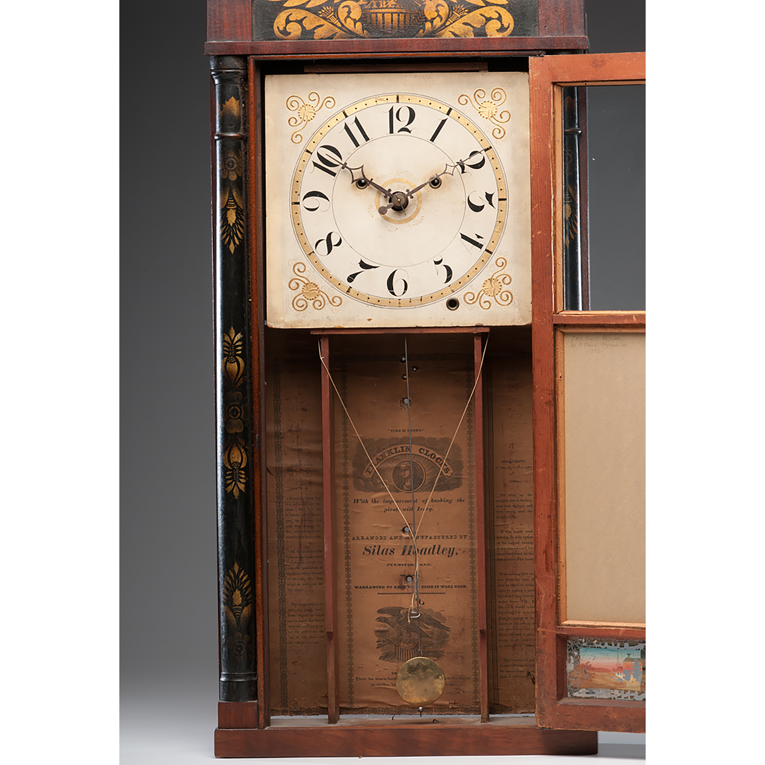 Silas Hoadley Pillar And Splat Shelf Clock Cowan S