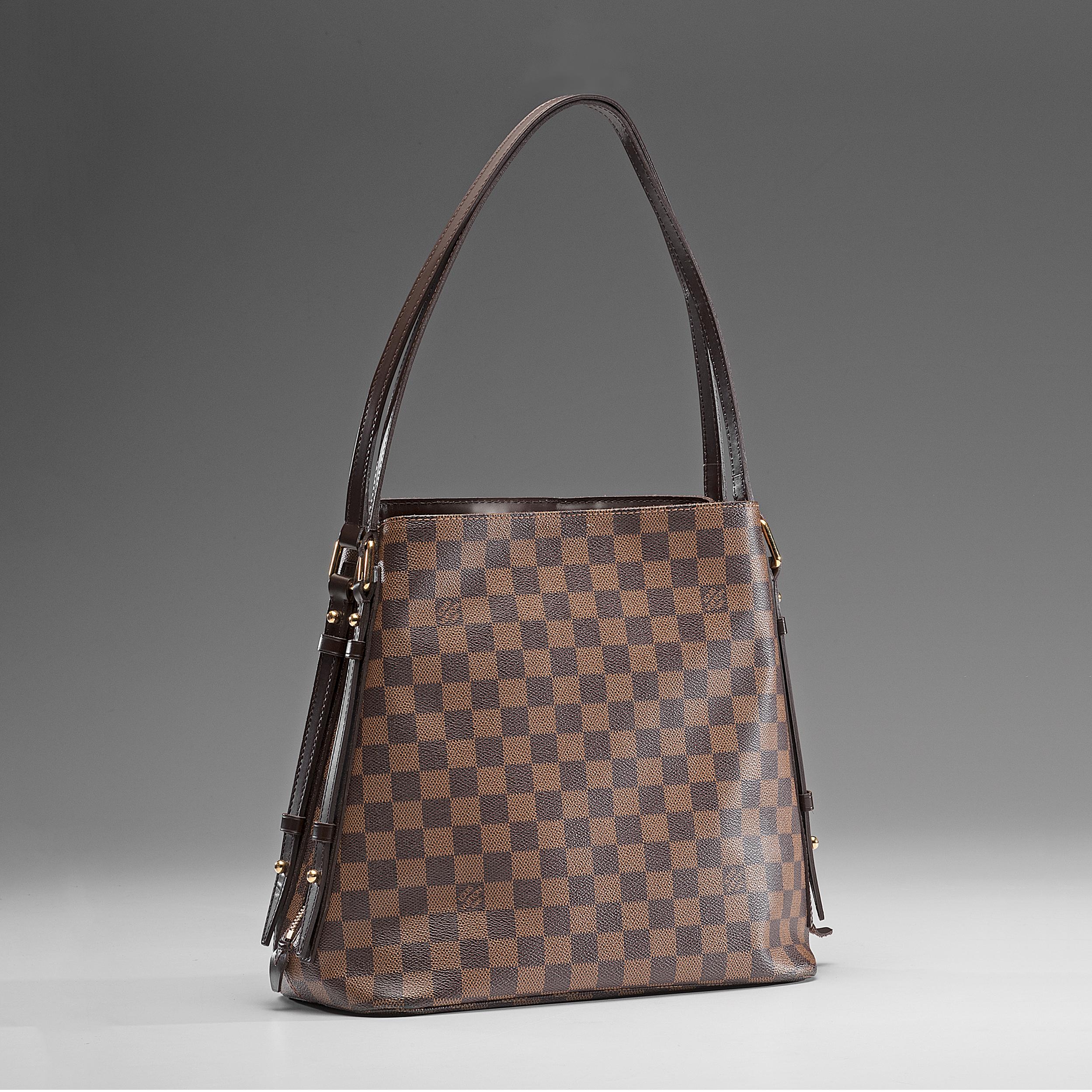 5f87acbdc74 Louis Vuitton Damier Ebene Cabas Rivington Shoulder Bag   Cowan s ...