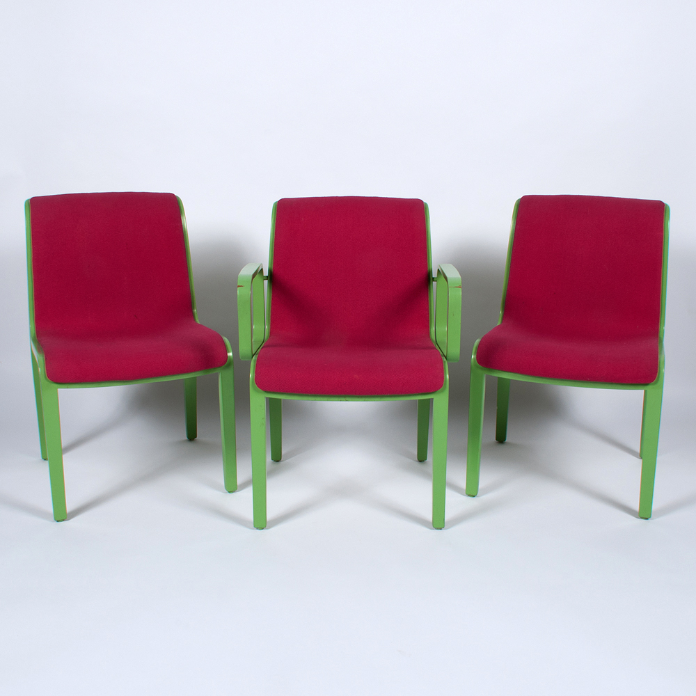 mid century modern bentwood chairs by william stephens for knoll