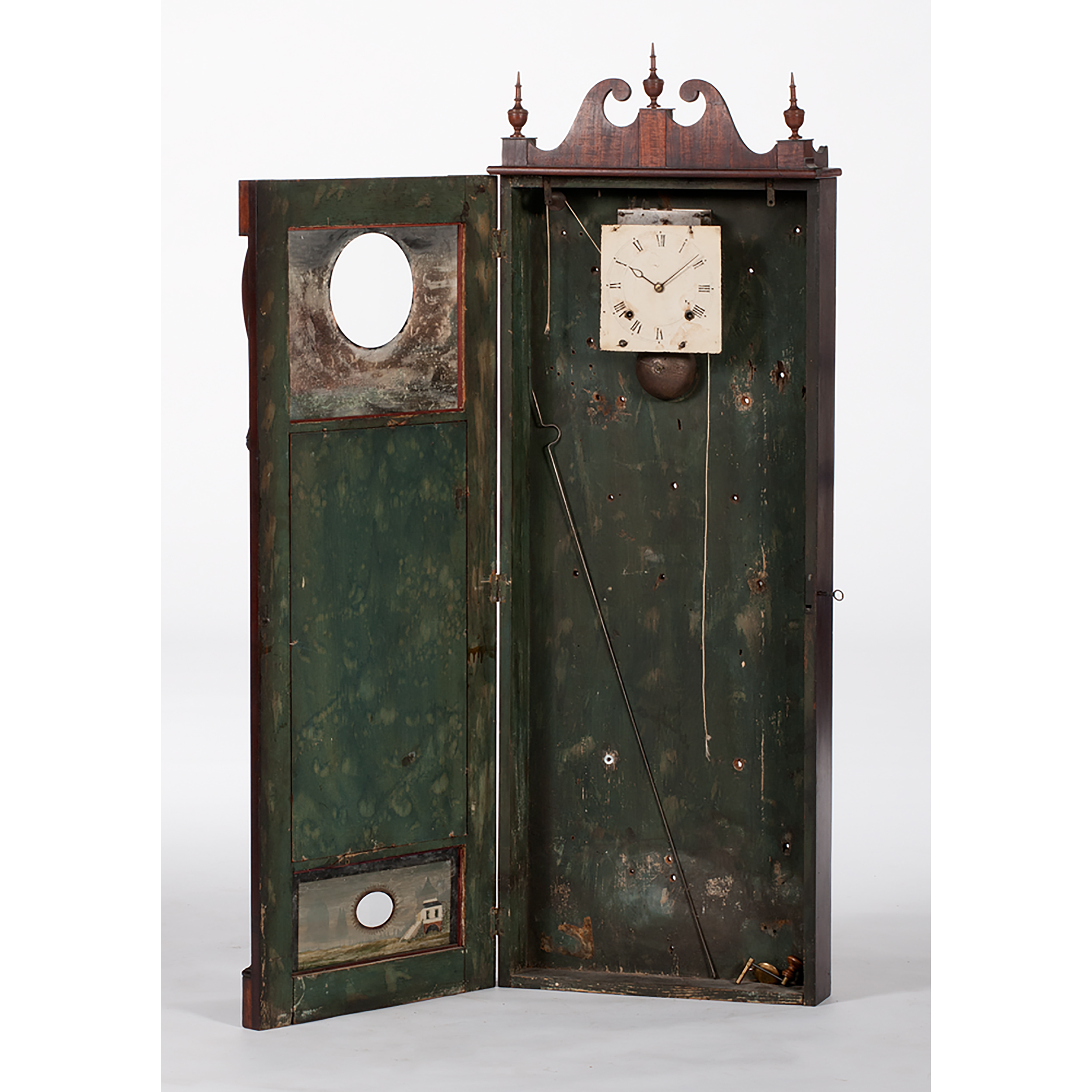 Joseph Ives Looking Glass Clock Cowan S Auction House