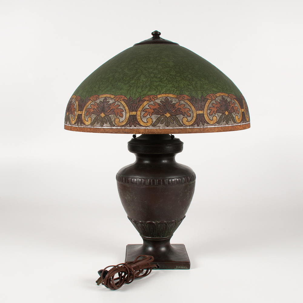 Handel Table Lamp With Chipped Ice Shade Cowan S Auction