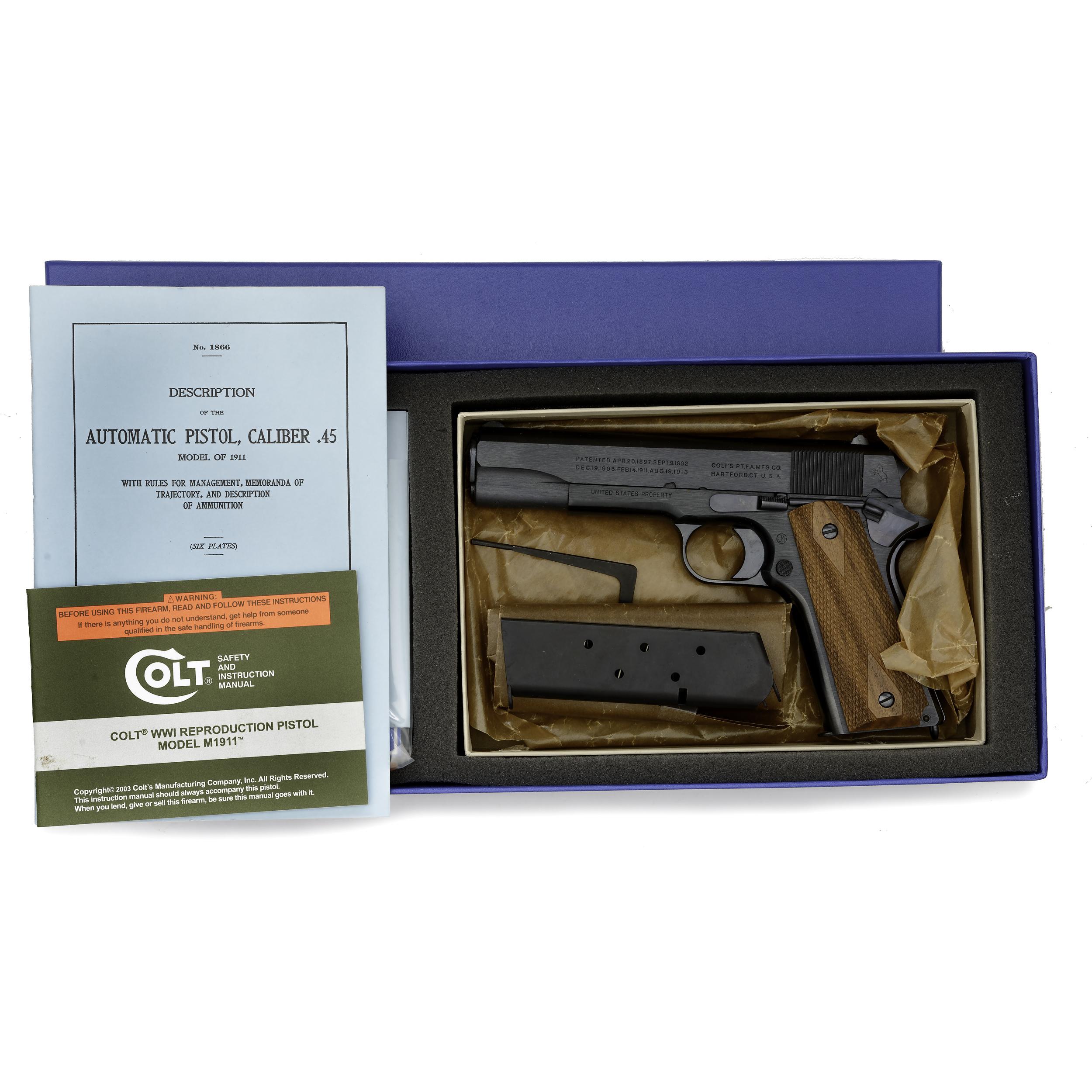 Colt Government Model 1911 WWI Replica Pistol, Carbonia Blue