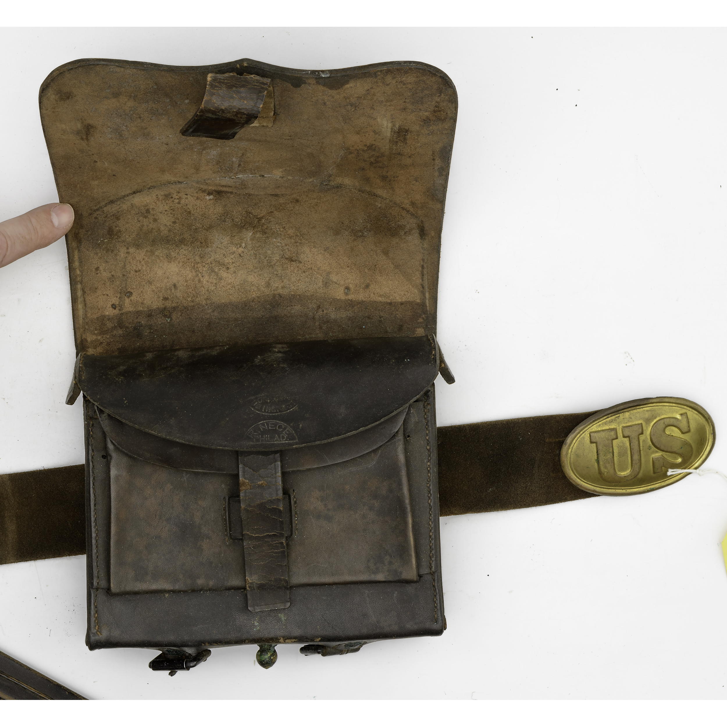 Us Civil War Cartridge Box Belt And Bayonet Scabbard