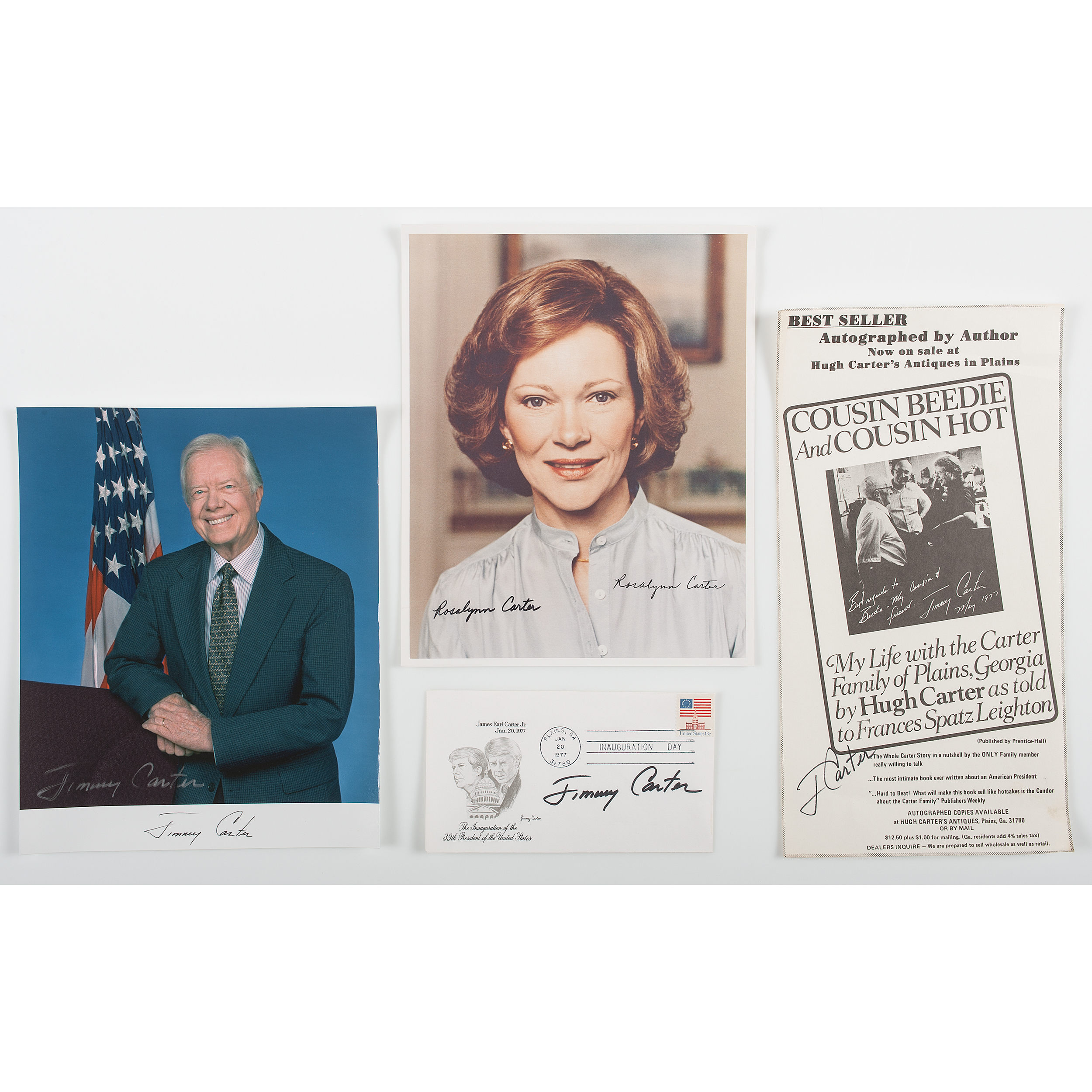 Jimmy Carter Collection of Autographs, Incl  Signed Photo