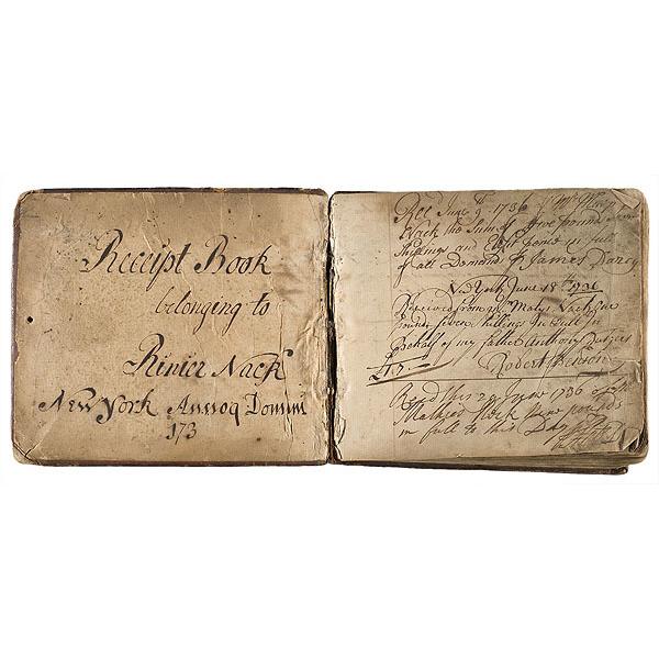 18th century receipt book of rinier nack new york cowan s auction