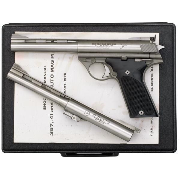 high standard model 180 2 barrel set auto mag pistol mfg by tde