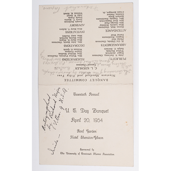 Richard Nixon Signed Program