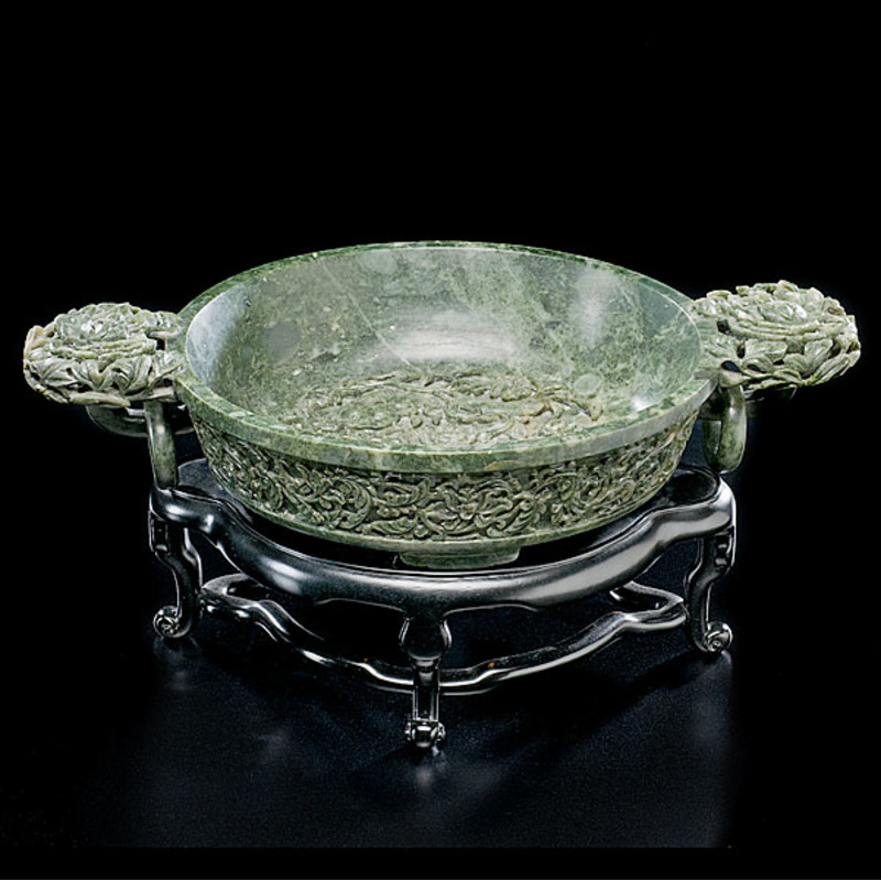 Spinach Jade Chinese Marriage Bowl