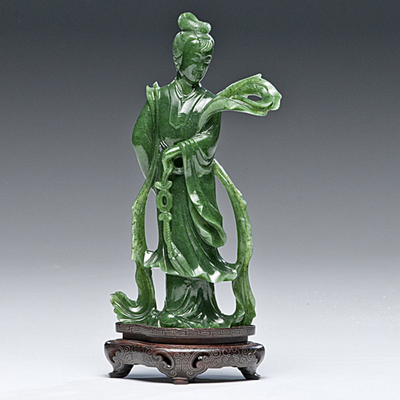 Chinese Carved Aventurine Figure
