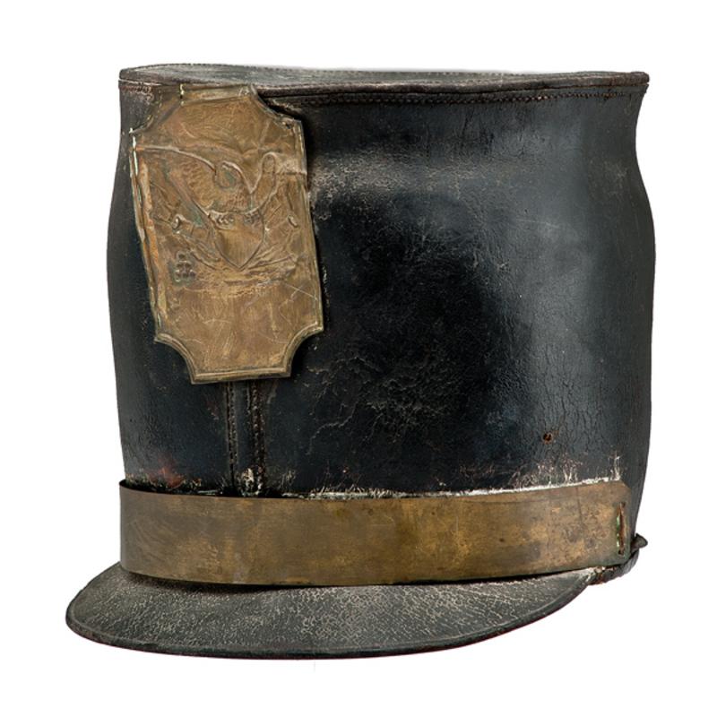 U.S. Leather Militia Bell Shako