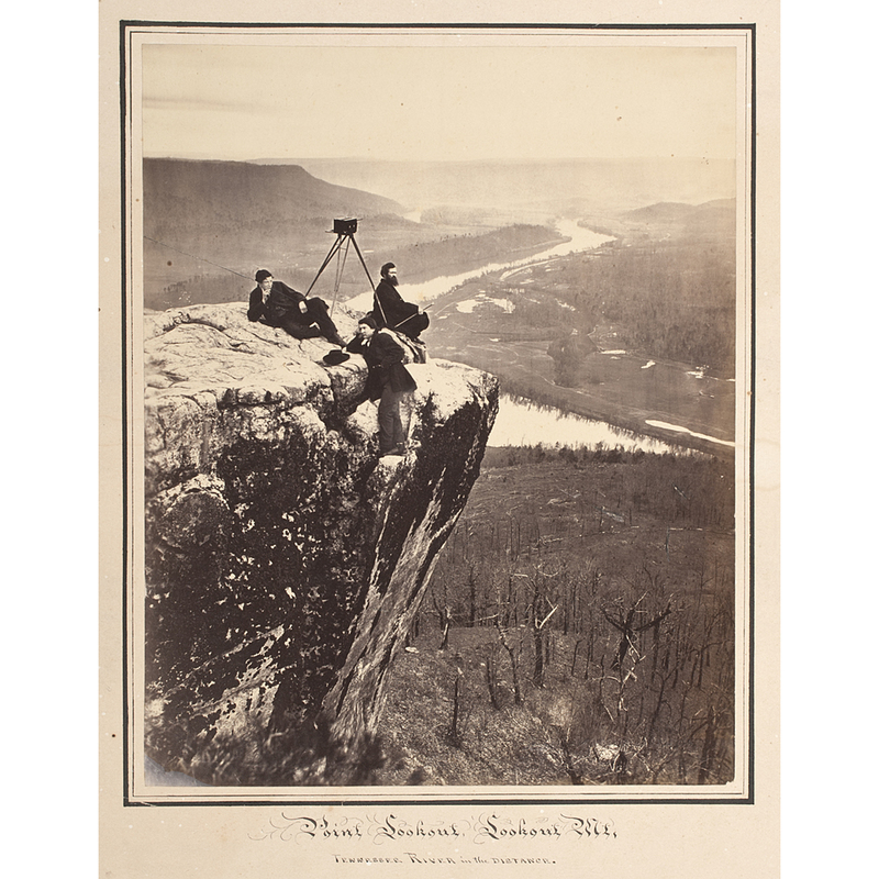 Robert Linn with his Stereoview Camera, Lookout Mountain, Civil War Photograph by I.H. Bonsall
