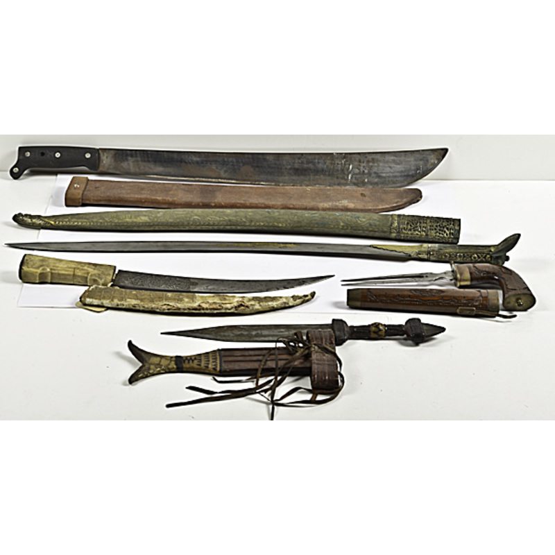 Assorted Aboriginal Sword and Daggers, Lot of Five