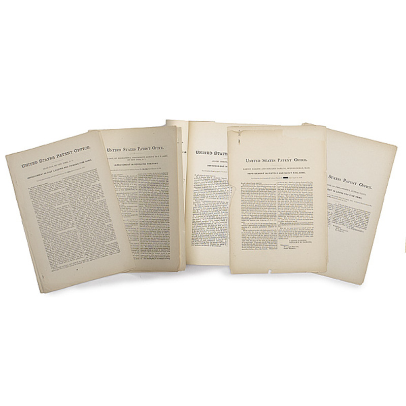 Patents Relating to Joseph Rider, Lot of Six