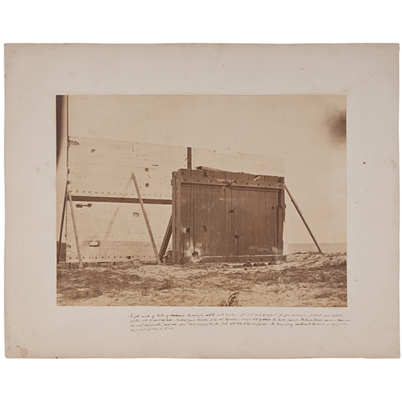 General James' Artillery Tests, Rare Group of Four Photographs by Cooley