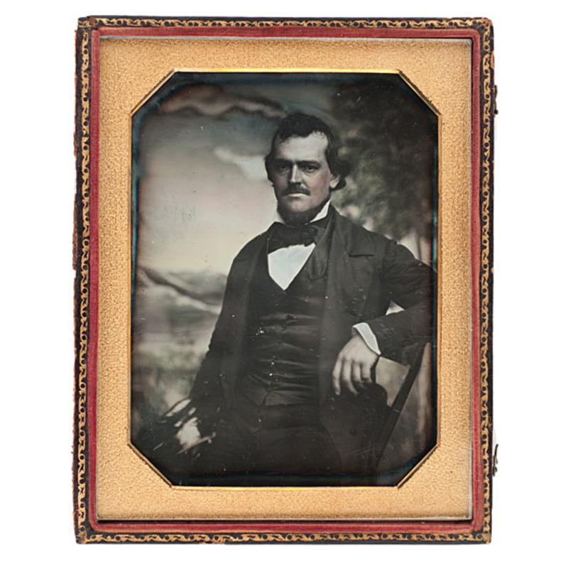 Daniel Boone's Nephew and Kentuckian, William Penn Boone, Half Plate Daguerreotype