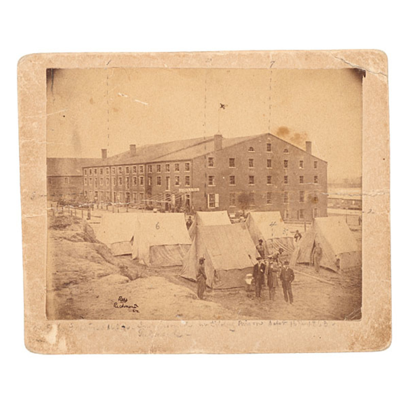 Libby Prison Photograph Captioned by POW Acting Master Walter E.H. Fentress, USN