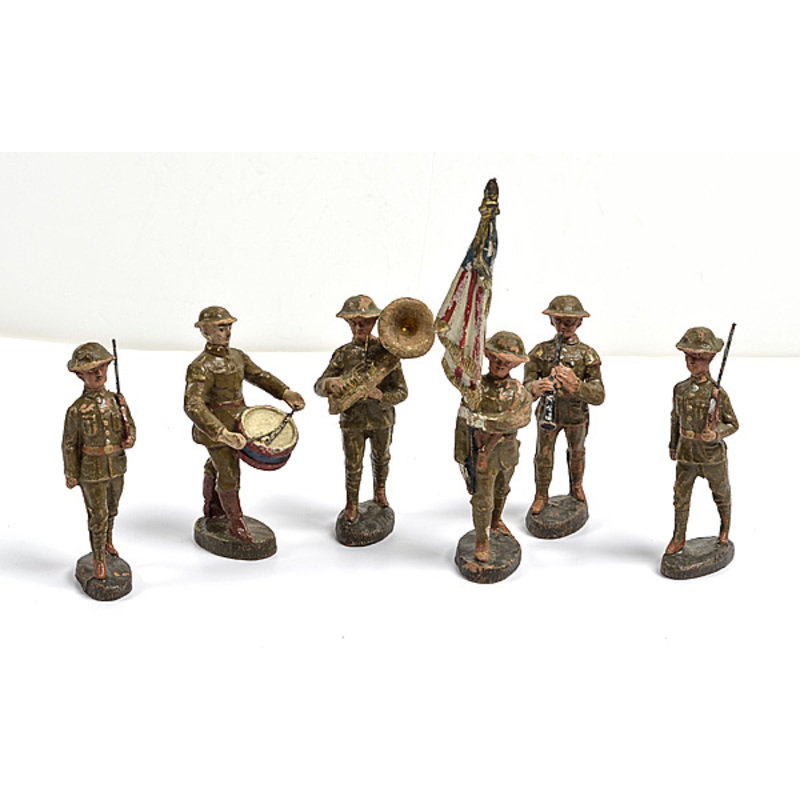WWI Toy Soldiers, Lot of Six
