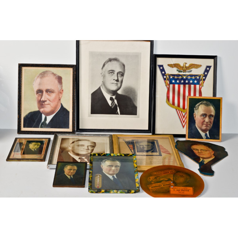 US WWII Homefront FDR Items, Lot of Eleven