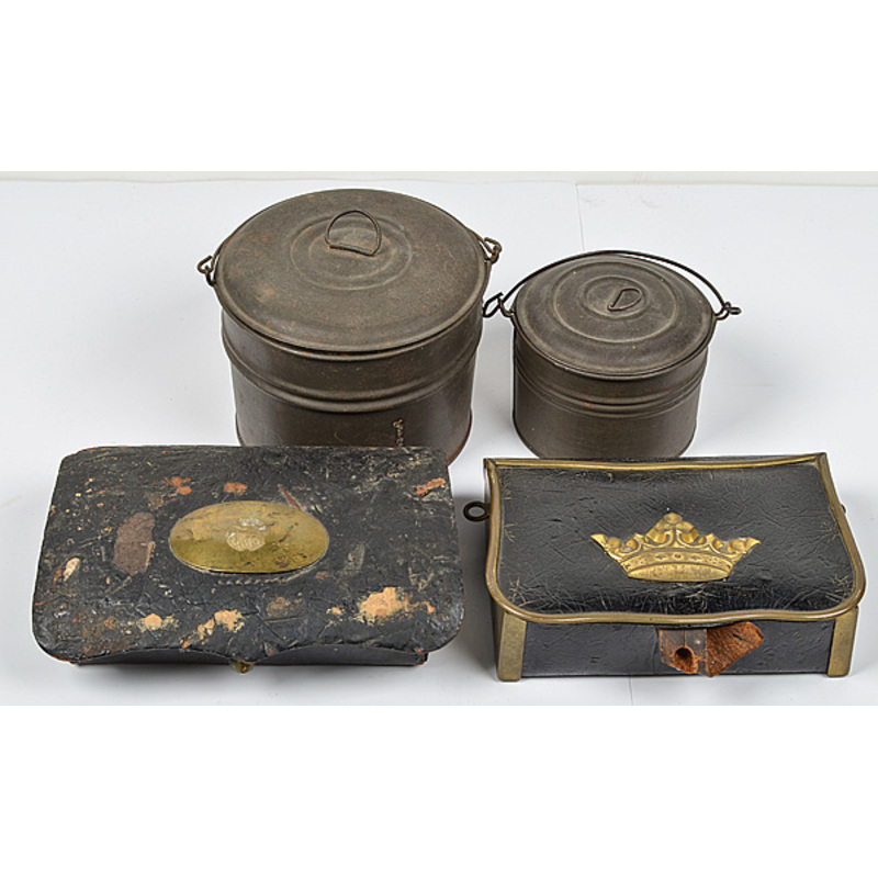 US Civil War Cartridge Boxes and Mess Tins Lot of