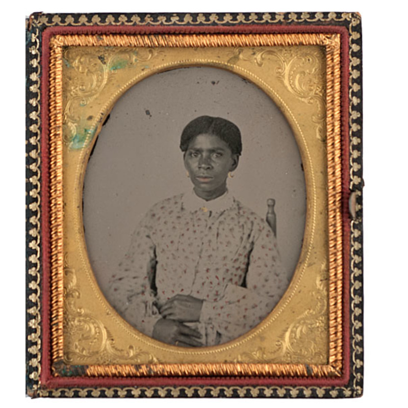 Sixth Plate Ambrotype of a Well-Dressed African American Woman