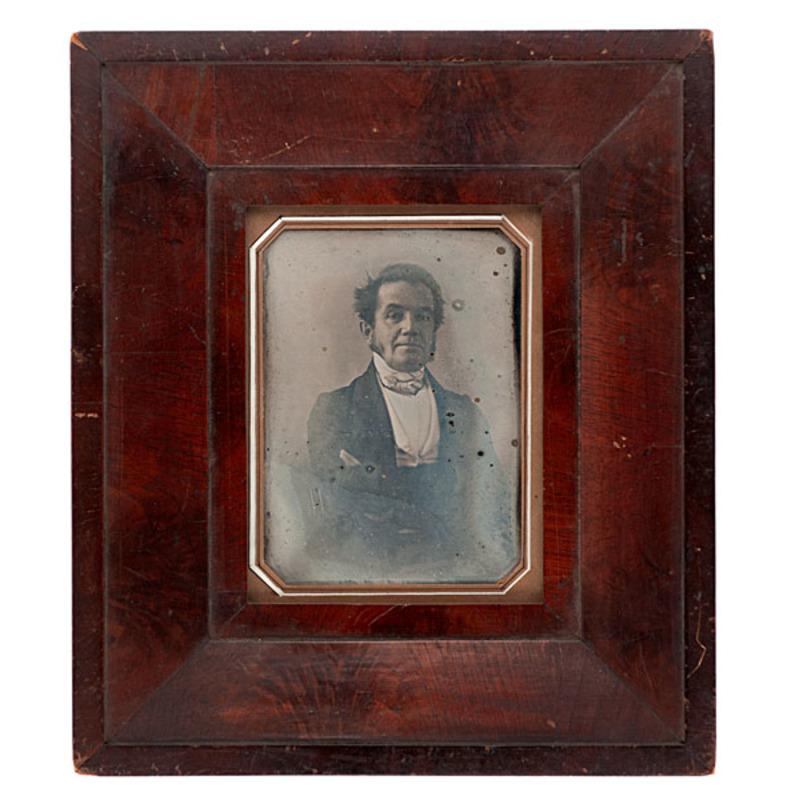 Fine Early Half Plate Daguerreotype of a Distinguished Gentleman