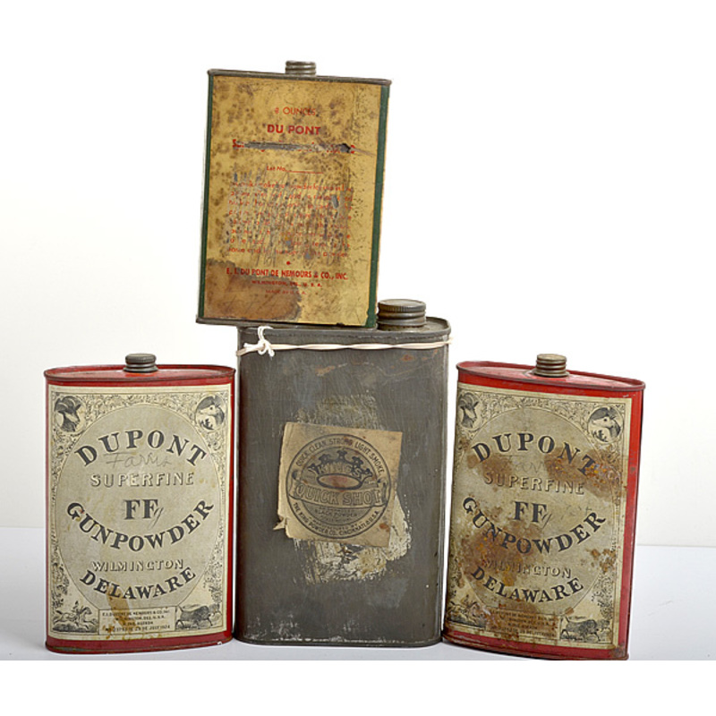 Powder Tins from DuPont and King Powder Co. Lot of