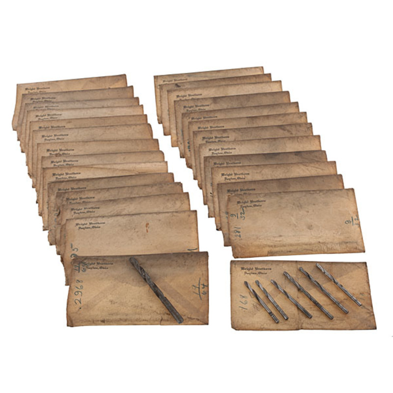 Wright Brother's Bicycle Shop, Original Envelopes Containing Drill Bits from the Shop