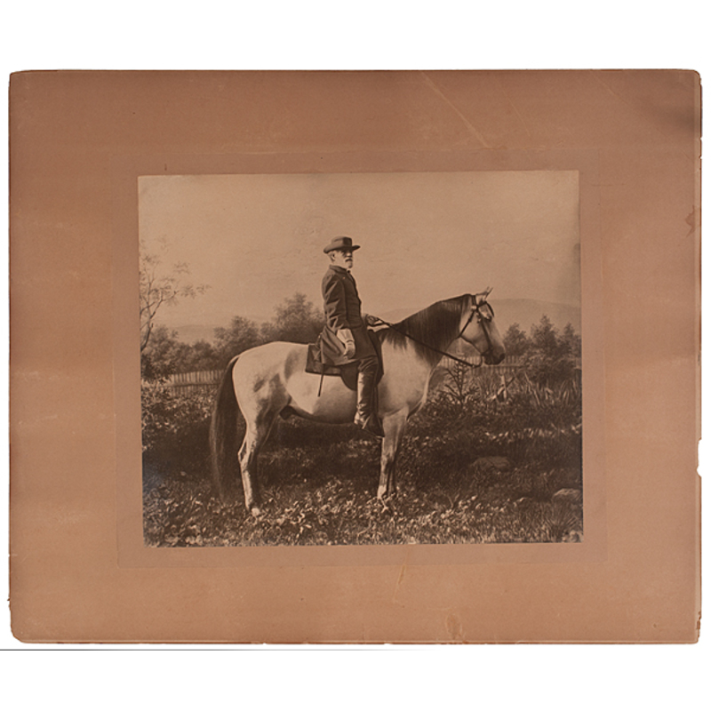 Robert E. Lee on Traveller, Mammoth Photograph Presented by General Lee's Grandson to Mattie P. Harris