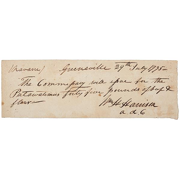 William Henry Harrison ANS, 1795
